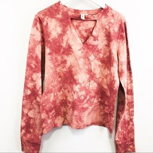 Others Follow Pink Tie Dye Sweatshirt Size M